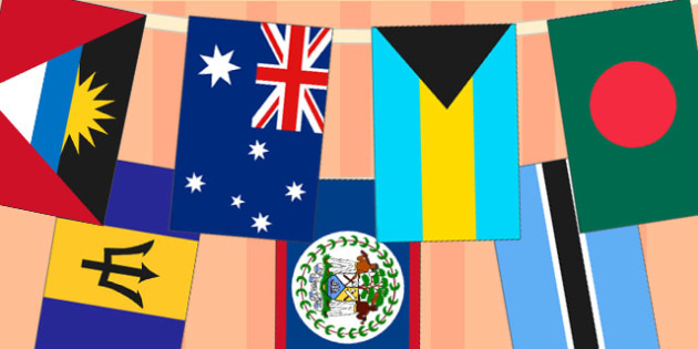 Commonwealth Flag Bunting - commonwealth games, flags, crafts