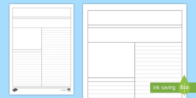 writing template with picture