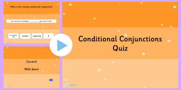 Conditional Conjunctions SPaG Grammar Quiz - Connectives, SPaG