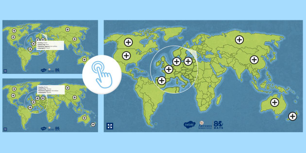 Around the World in 80 Days Route Map Hotspots - Twinkl Go, twinkl go