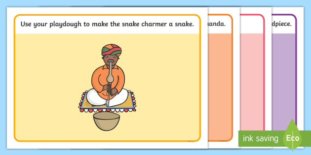 India Themed Playdough Mats - india, fine motor skills, country