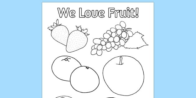 Fruit Colouring Poster Fruit Colouring Poster Activity