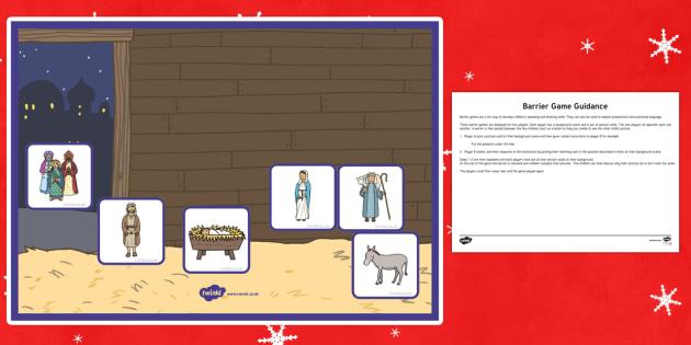 Nativity Barrier Game