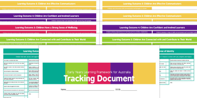 EYLF Tracker Document - australia, eylf, tracker, document, curriculum