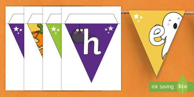 Halloween Display Bunting Gaeilge - oíche shamhna, decoration, october, ghosts, witches, vampires, gaeilge, ireland, Irish
