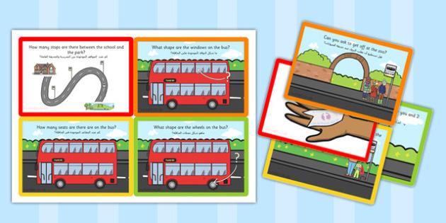 Challenge Cards Bus Station Arabic Translation - arabic, challenge