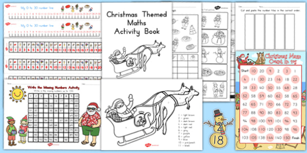 christmas maths pack australia christmas math pack activity