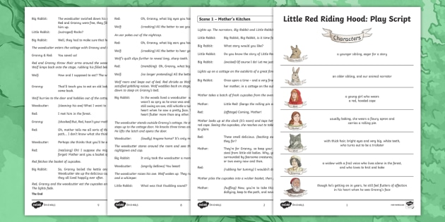 Little Red Riding Hood Play Script For Key Stage 2