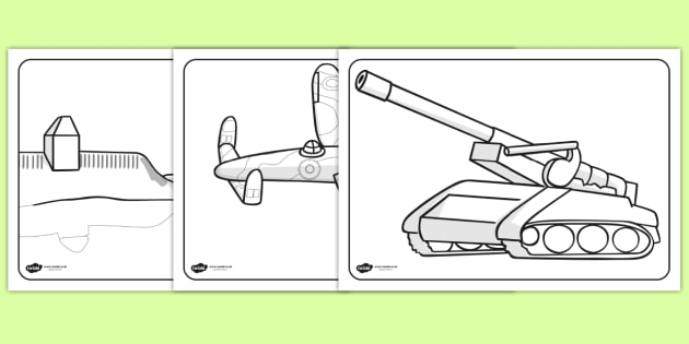 World War Two Colouring Sheets - World War Two, WW2, history ...