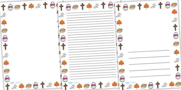 Easter Handwriting Lines Portrait - easter, hand writing, write