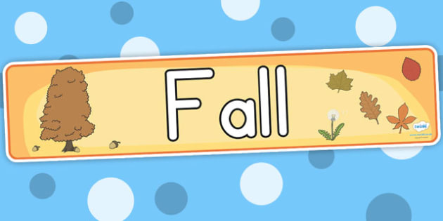 Fall Display Banner - fall, season, weather, fall display, header