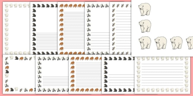 T T 2035 Bears Page Borders on Paddington Bear Worksheets