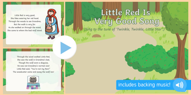 Little Red Is Very Good Song PowerPoint