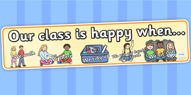 Happy Class Display Banner - happy class, display, banner, display banner, display header, themed banner, banner for display, class banner, display, happy