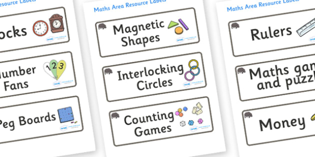 Hippo Themed Editable Maths Area Resource Labels - Themed maths resource labels, maths area resources, Label template, Resource Label, Name Labels, Editable Labels, Drawer Labels, KS1 Labels, Foundation Labels, Foundation Stage Labels, Teaching Label