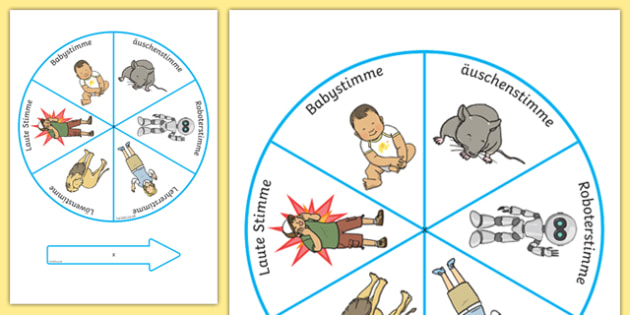 Silly Voices Spinner German - german, activity, activities, games, voice, fun