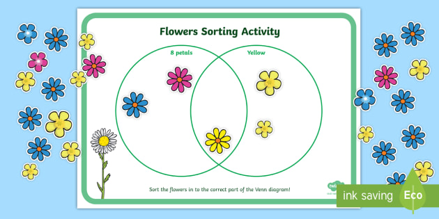 Venn Diagram Flower Sorting Activity 2 Venn Diagram Venn