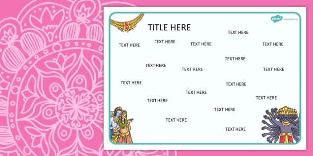Diwali Diwali Themed Editable Word Mat - literacy, words, mats