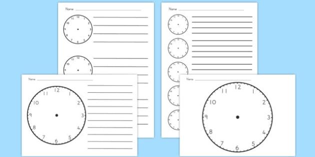 Blank Clock Templates - australia, blank clock, templates, clock