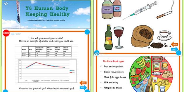 Year 6 Keeping Healthy Teaching PowerPoint - health, healthy