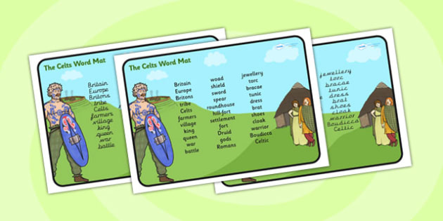 The Celts Word Mat - the celts, word mat, topic words, key words, word list, keyword, words, key word mat, themed word mat, themed word list, list of words