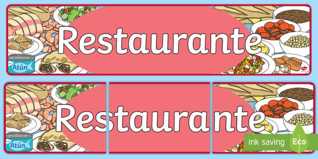 Pancarta: El restaurante - comer sano, comida sana, comer saludable, comida saludable, fruta, verdura, dieta saludable, dieta s