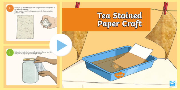 Ks2 Tea Stained Paper Craft Instructions Guide Powerpoint Coffee Stain