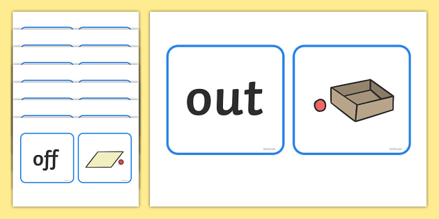 Positional Language Matching Cards - Postion, Positional, Positional Language, matching cards, matching activity, word cards, Position Words, up, down, inside, outside, next to, North, South, East, West