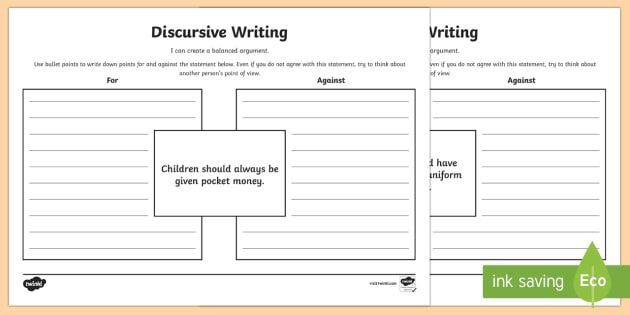 Help with writing a discursive essay