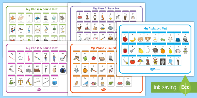 Phase 1 5 Alphabet Phonics Sounds Mat Pack Phonics Stages