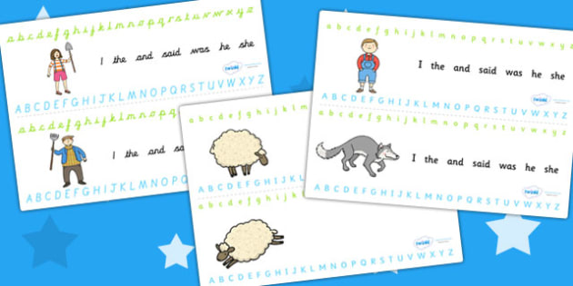 The Boy Who Cried Wolf Alphabet Strips - aesops fables, a-z