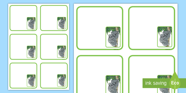 Koala Themed Editable Drawer-Peg-Name Labels (Colourful) - Themed Classroom Label Templates, Resource Labels, Name Labels, Editable Labels, Drawer Labels, Coat Peg Labels, Peg Label, KS1 Labels, Foundation Labels, Foundation Stage Labels, Teaching La