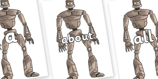 100 High Frequency Words on The Iron Man - High frequency words, hfw, DfES Letters and Sounds, Letters and Sounds, display words