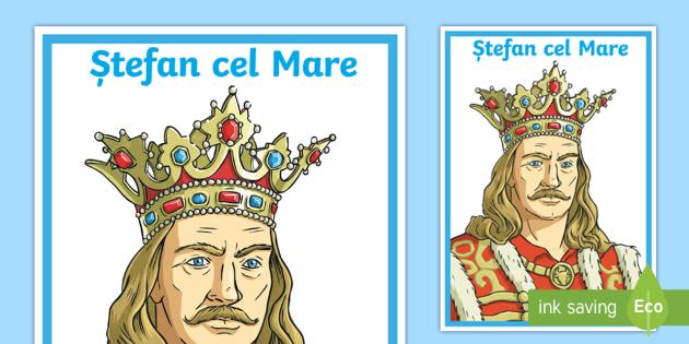 Ștefan cel Mare Planșă - istoria românilor, planse, domnitori, Stefan cel Mare, Mircea cel Bătrân, Iancu de Hunedoara, Vla