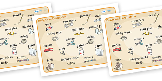 Design And Construction Word Mat Design And Construction