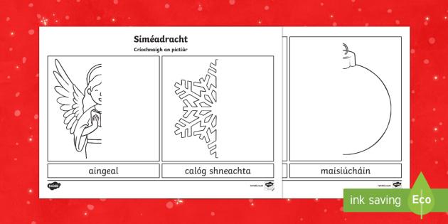 Siméadracht -  An Nollaig Worksheet / Activity Sheet-Irish