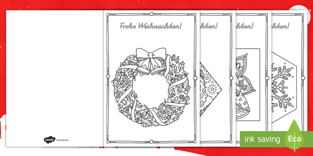 Weihnachtskarten Ausmalbilder Weihnachten Karten Advent Dezember