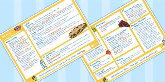 Food KS1 Lesson Plan Ideas - lesson plan ideas, food, ks1, lesson