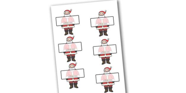 Self-Registration Labels (Santa) Editable  - self registration