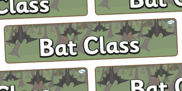 Bat Themed Classroom Display Banner - Themed banner, banner, display banner, Classroom labels, Area labels, Poster, Display, Areas