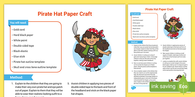 Make Your Own Pirate Hat | LoveToKnow | 315x630