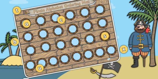Pirate Themed Porthole Alphabet Activity Mat - pirates, a-z