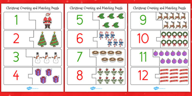 Christmas Themed Counting Puzzle - puzzle, counting, christmas