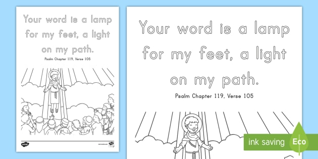 psalm 119 105 coloring pages - photo#18