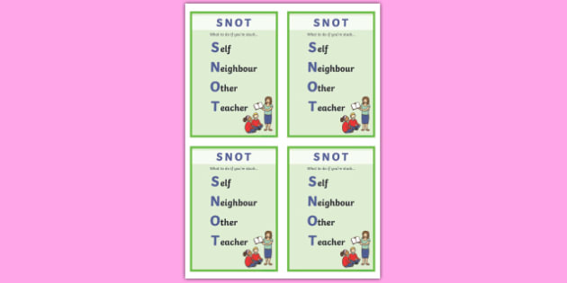 SNOT Visual Aids