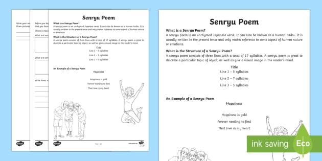 QLD Senryu Poem Writing Template