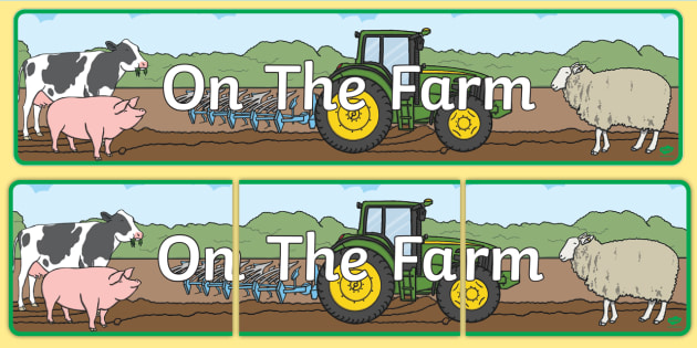 on the farm display banner farm display banner poster shop