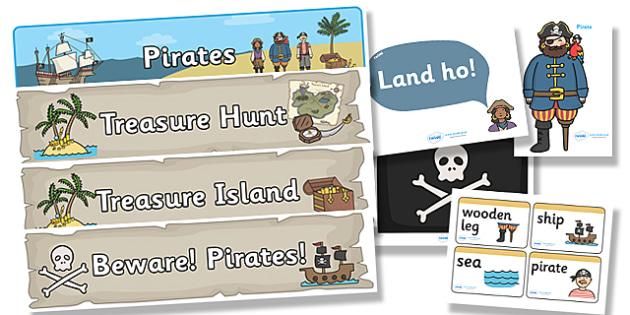 Pirate Topic Display Pack - pirate, display pack, display banner, display photos, display, resource pack, display lettering, resources, classroom display