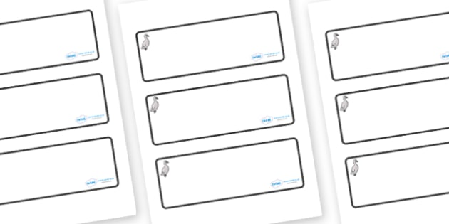 Cygnet Themed Editable Drawer-Peg-Name Labels (Blank) - Themed Classroom Label Templates, Resource Labels, Name Labels, Editable Labels, Drawer Labels, Coat Peg Labels, Peg Label, KS1 Labels, Foundation Labels, Foundation Stage Labels, Teaching Label
