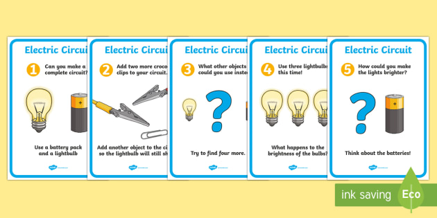 Electric Circuit Worksheet / Activity Sheet Pack (Bulb)
